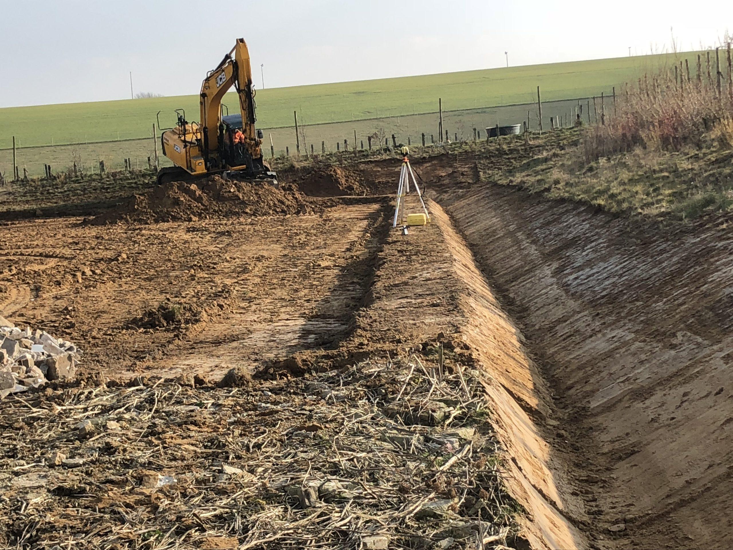 creusement d'un fossé